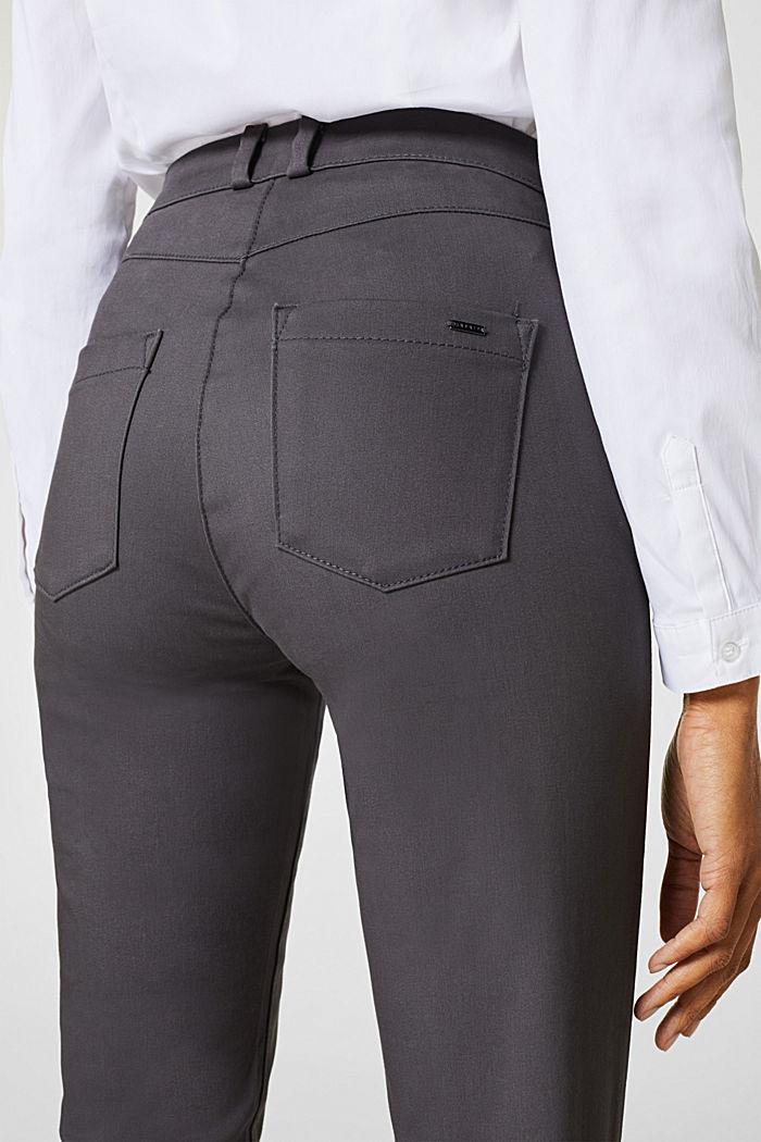 Softe High-Waist-Hose mit Stretch, GUNMETAL, detail image number 5