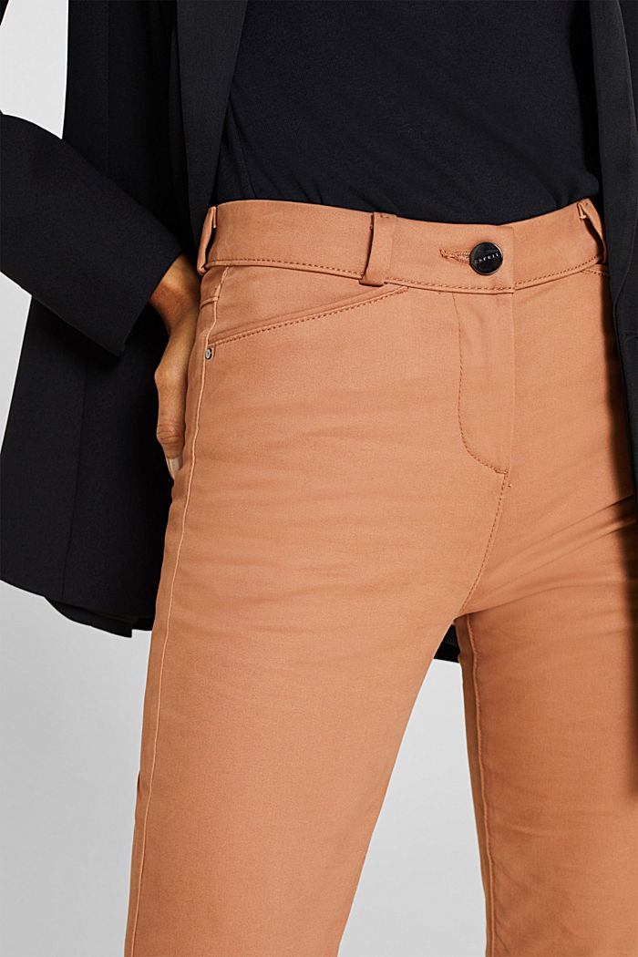 Soft, high-waisted stretch trousers, CAMEL, detail image number 2