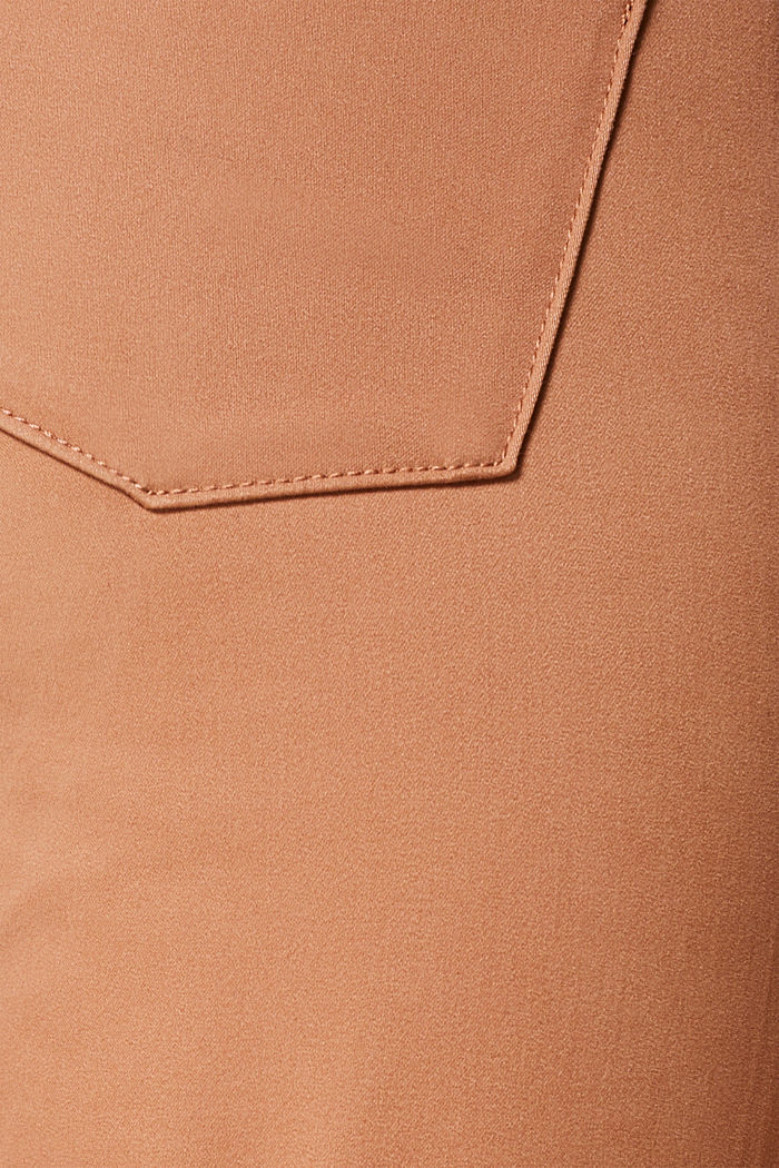 Soft, high-waisted stretch trousers, CAMEL, detail image number 4