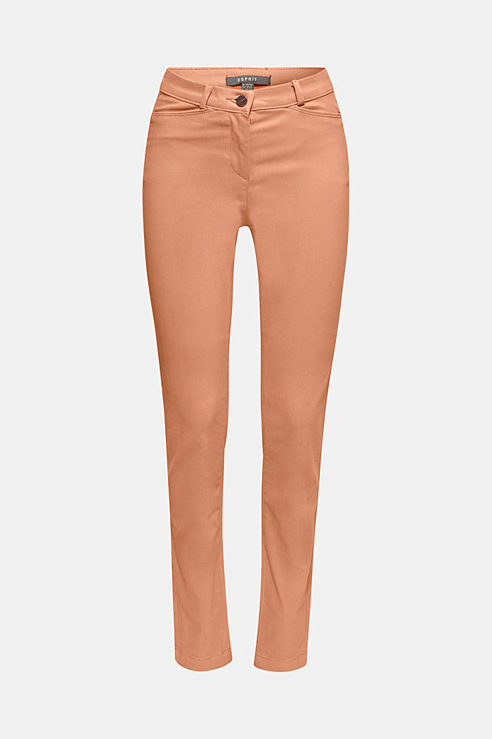 Soft, high-waisted stretch trousers, CAMEL, detail image number 7