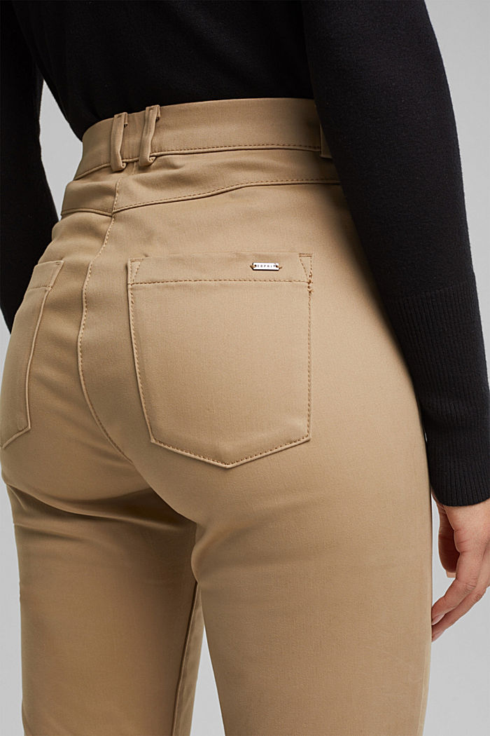 Softe High-Waist-Hose mit Stretch, LIGHT TAUPE, detail image number 2