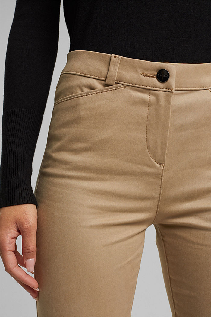 Softe High-Waist-Hose mit Stretch, LIGHT TAUPE, detail image number 5