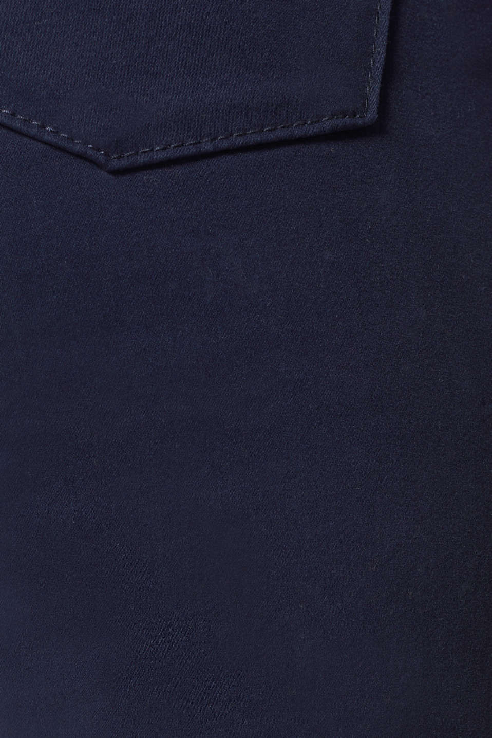 Soft, high-waisted stretch trousers, NAVY, detail image number 4