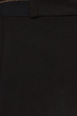 Stretch trousers with a glittery waistband, BLACK, detail
