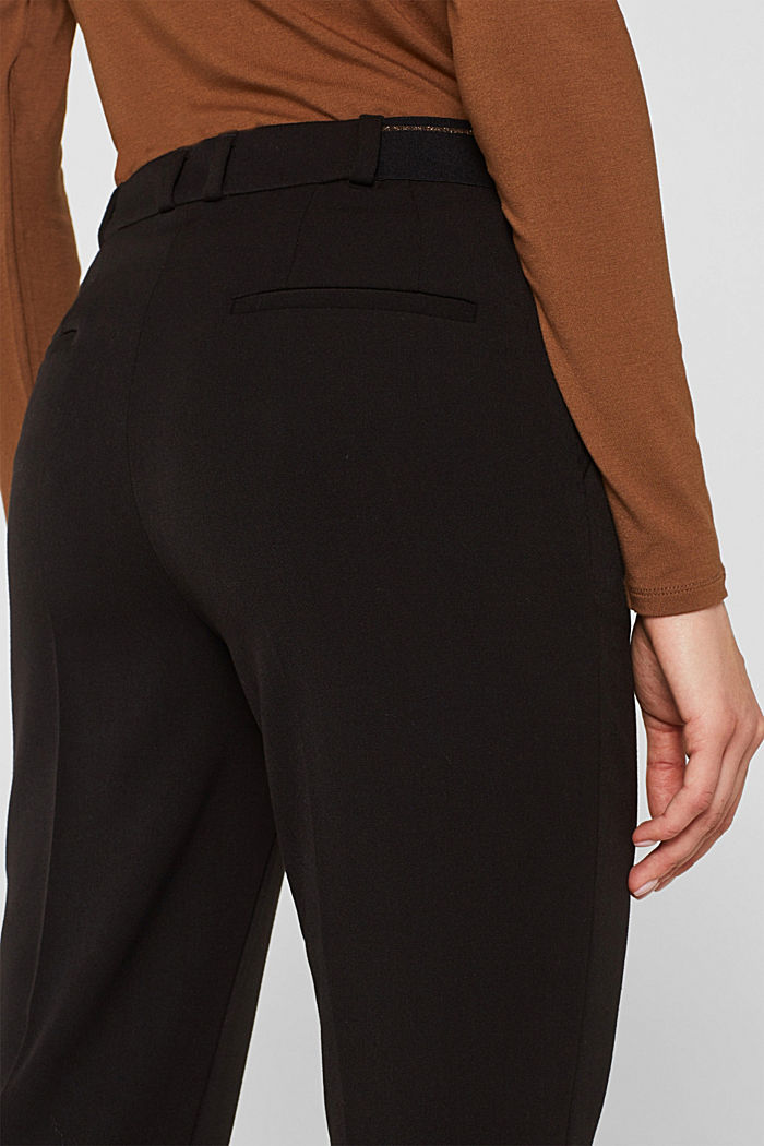 Stretch trousers with a glittery waistband, BLACK, detail image number 5