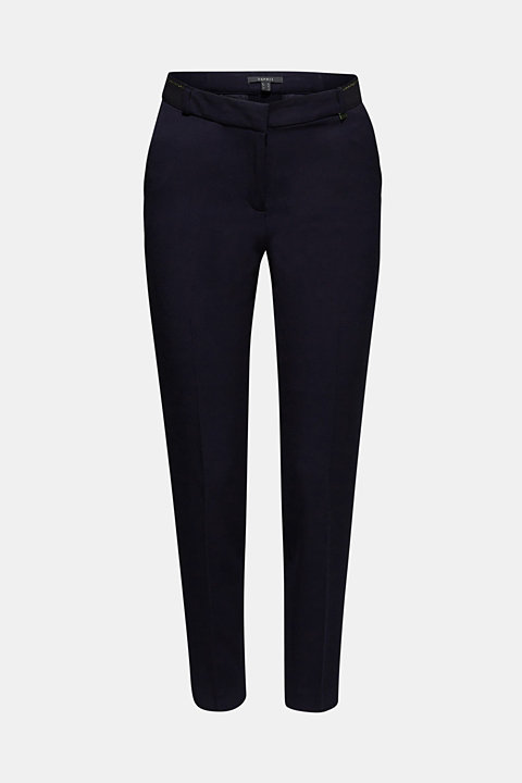 Stretch trousers with a glittery waistband