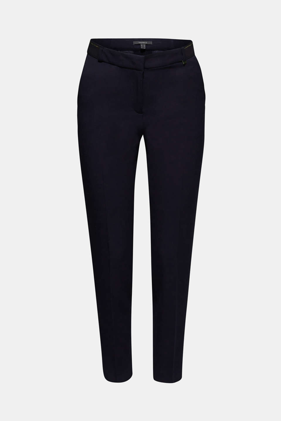 Stretch trousers with a glittery waistband, NAVY, detail image number 6