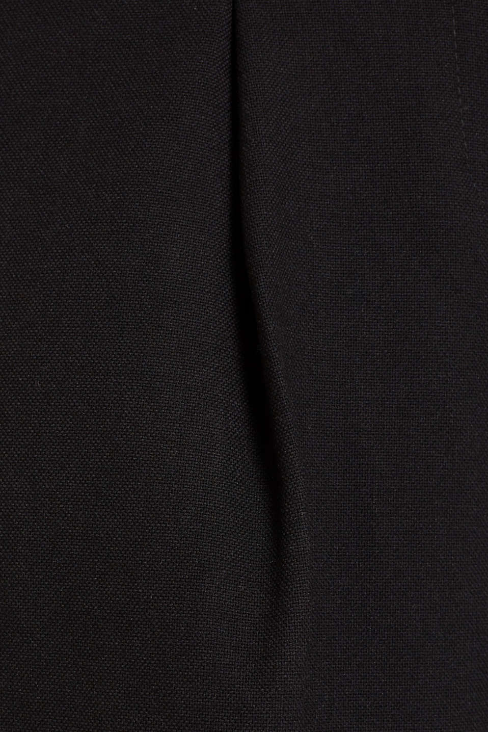 Wide high-rise trousers with a belt, BLACK, detail image number 4