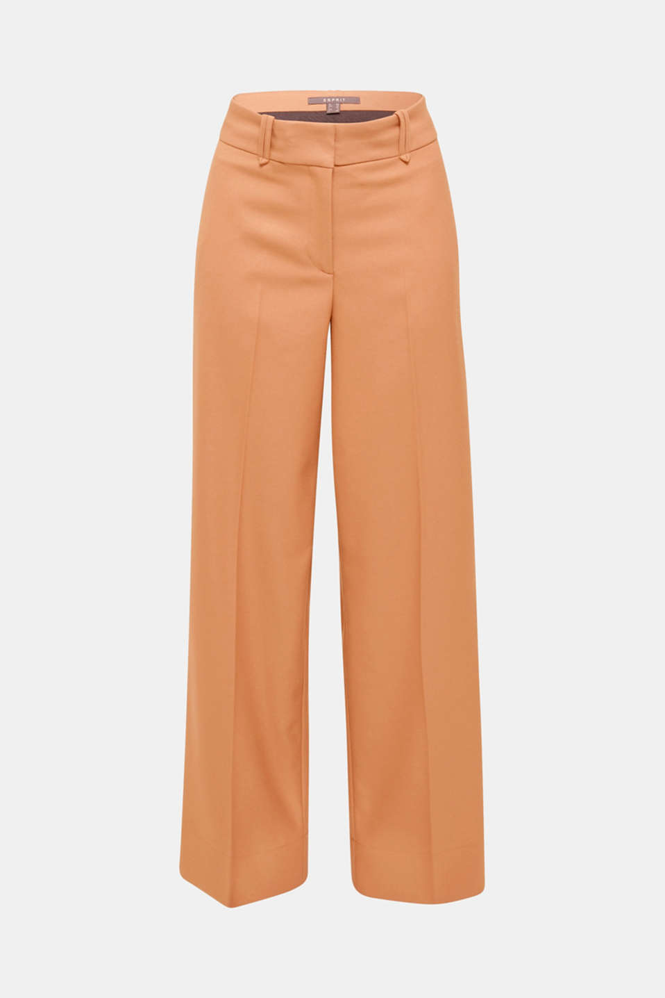 High-waist stretch trousers with a wide leg, CAMEL, detail image number 6