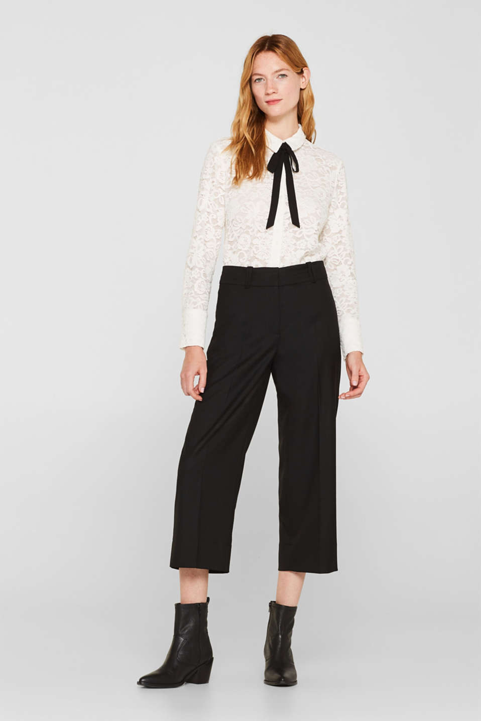 Culottes with a high waist and stretch