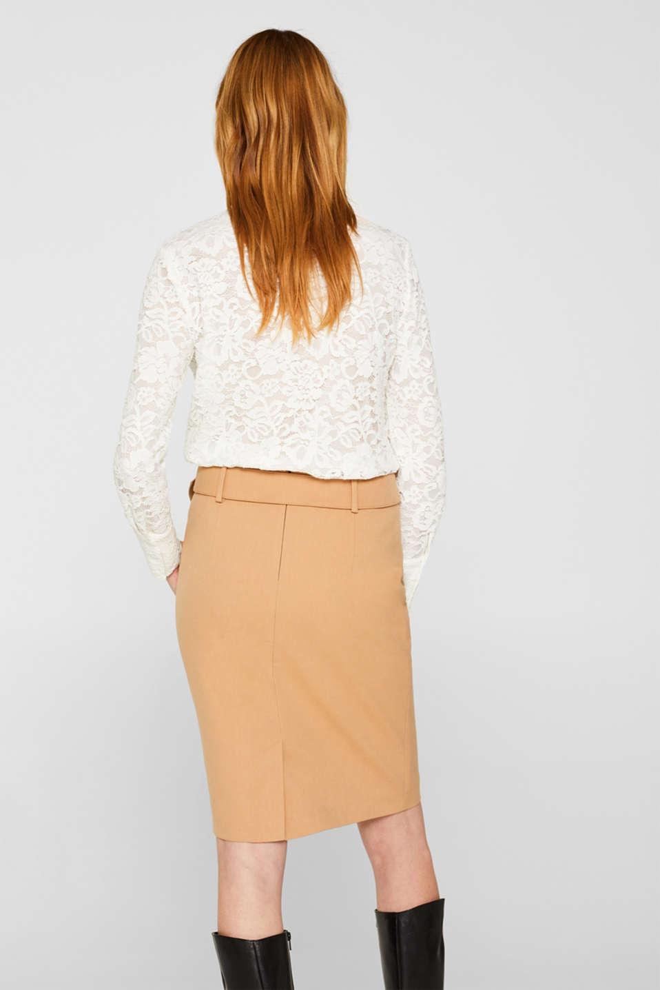 Fashion Skirt, CAMEL, detail image number 3
