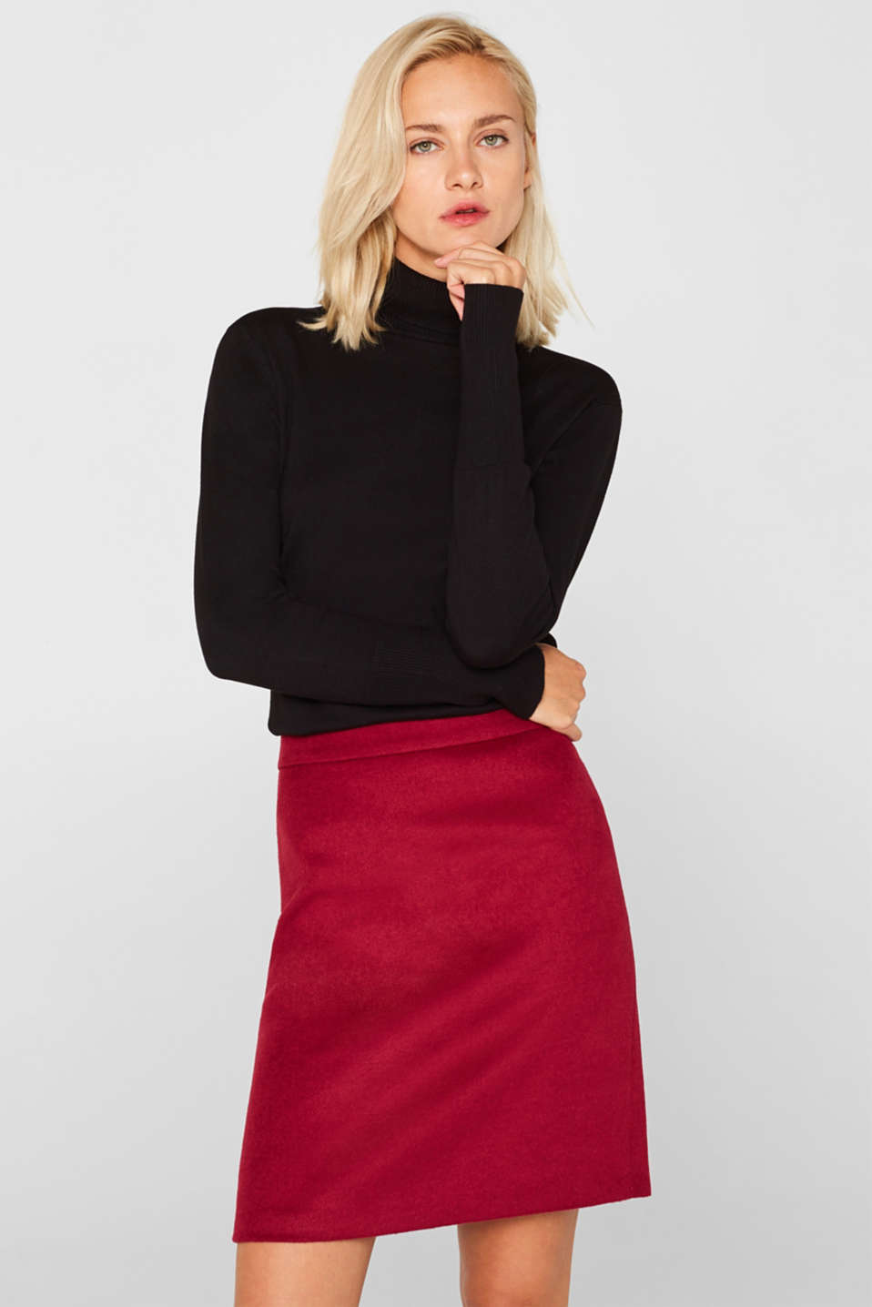 Esprit - Skirt with wool