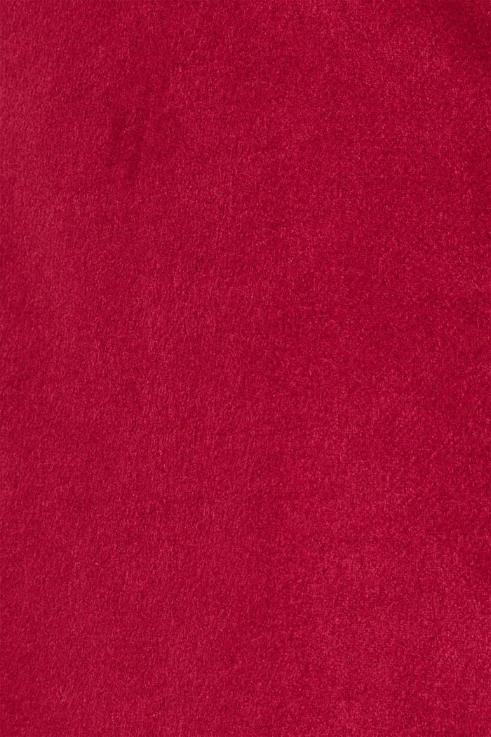 Skirt with wool, DARK RED, detail image number 4