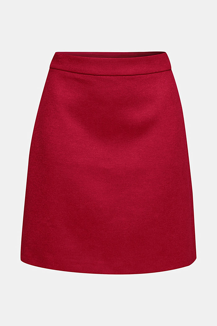 Skirt with wool, DARK RED, detail image number 5