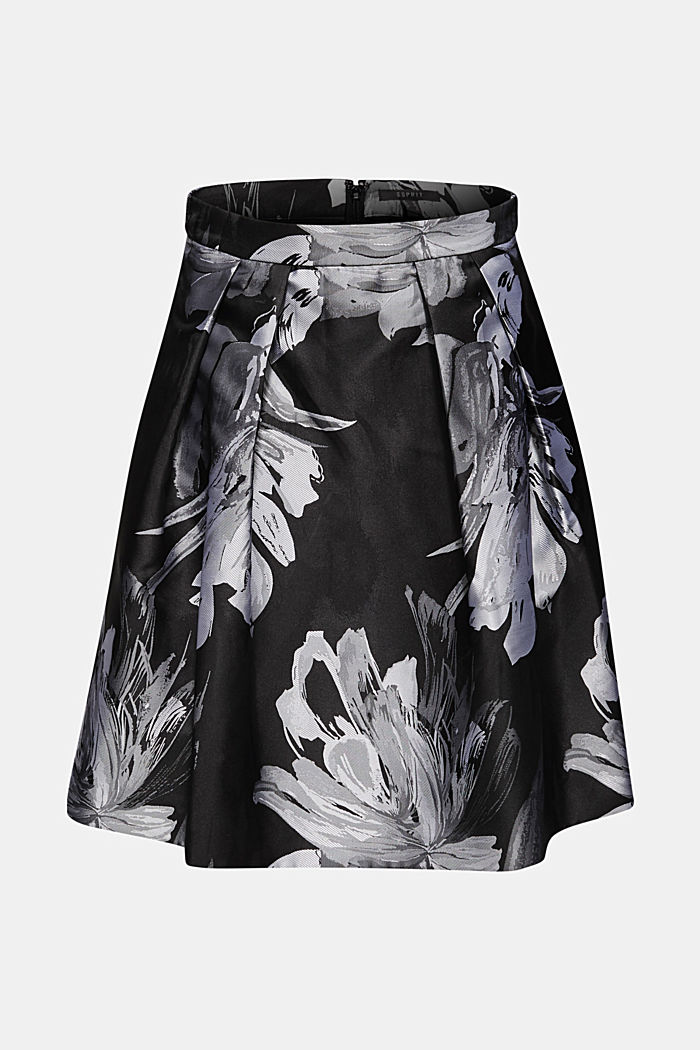 Skirt with jacquard flowers