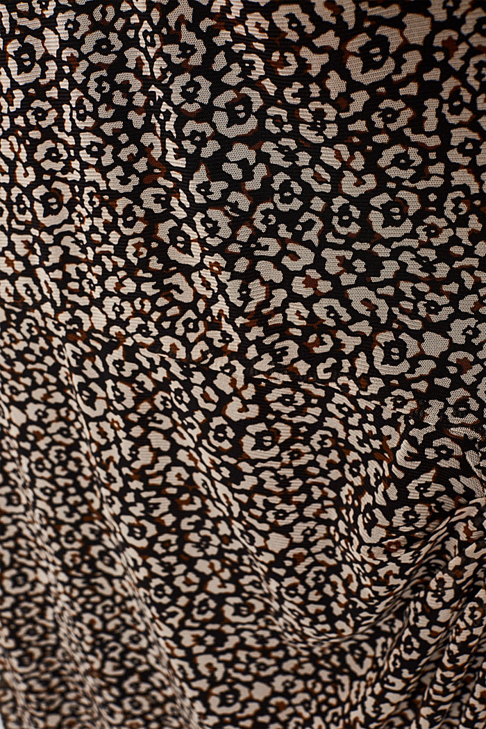 Mesh dress with a leopard print, BLACK, detail image number 3