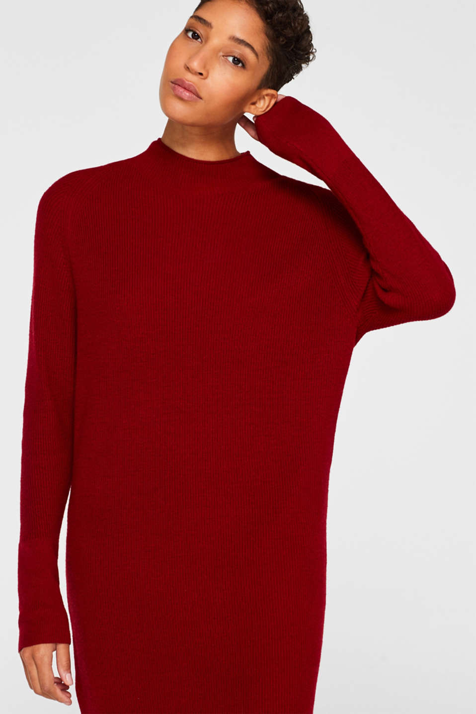 Esprit - Knitted dress with cashmere