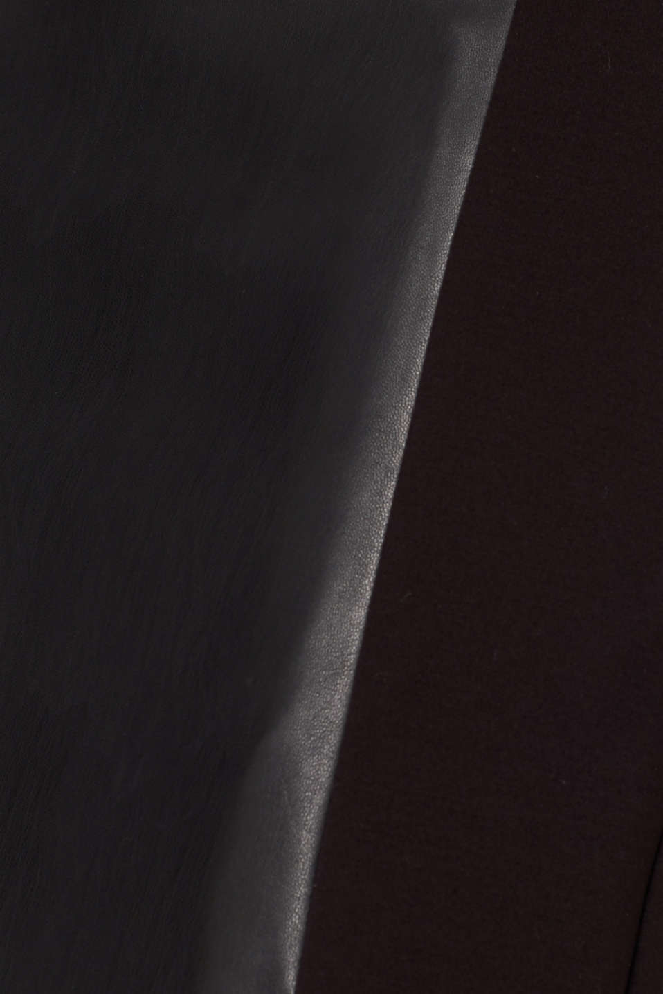 Faux leather sheath dress, BLACK, detail image number 4