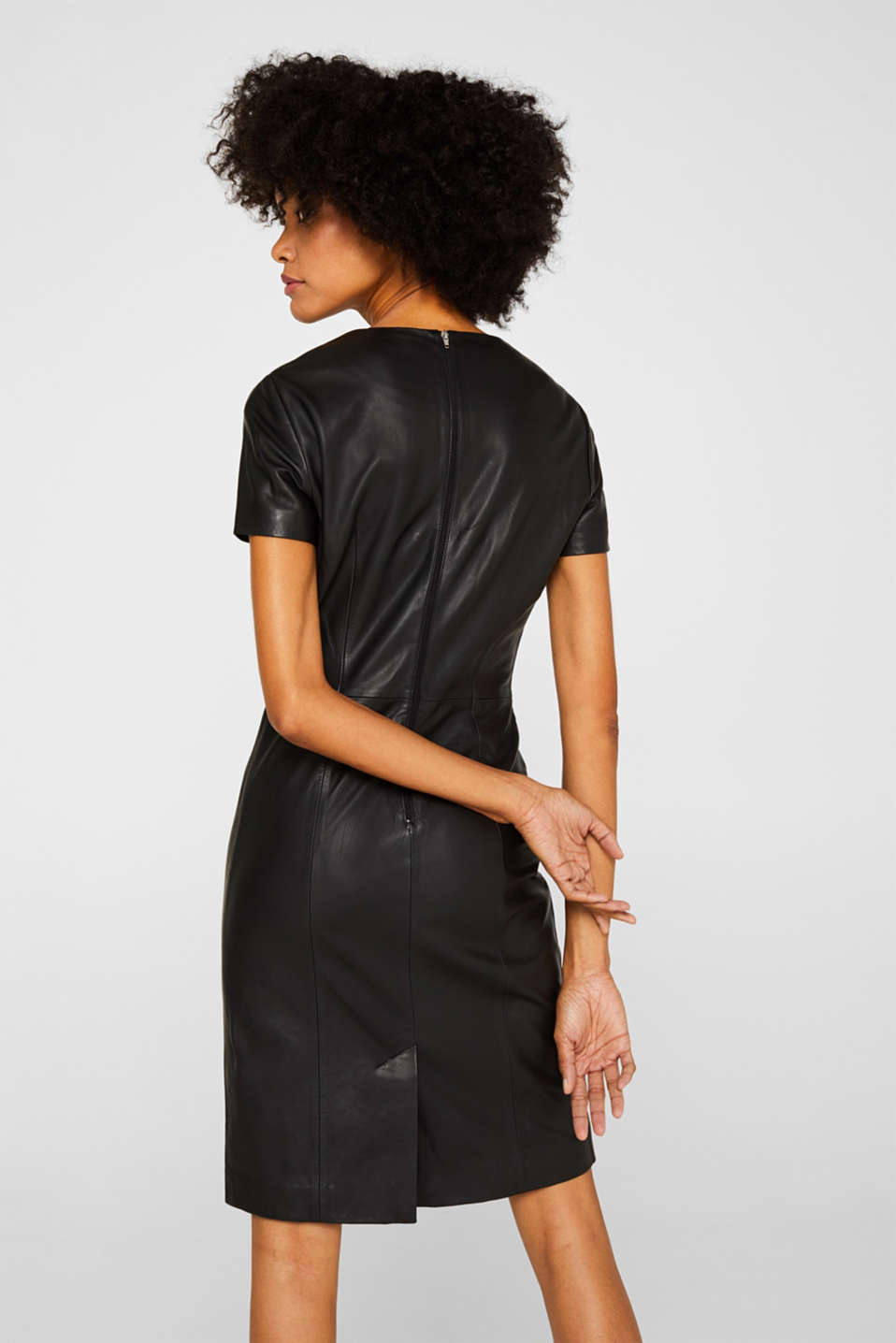 Dresses leather, BLACK, detail image number 2