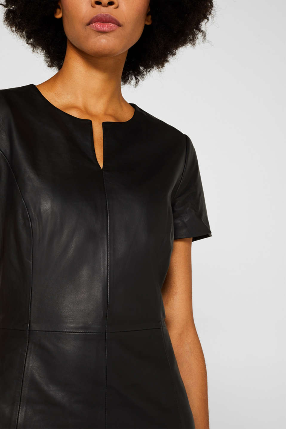 Dresses leather, BLACK, detail image number 3