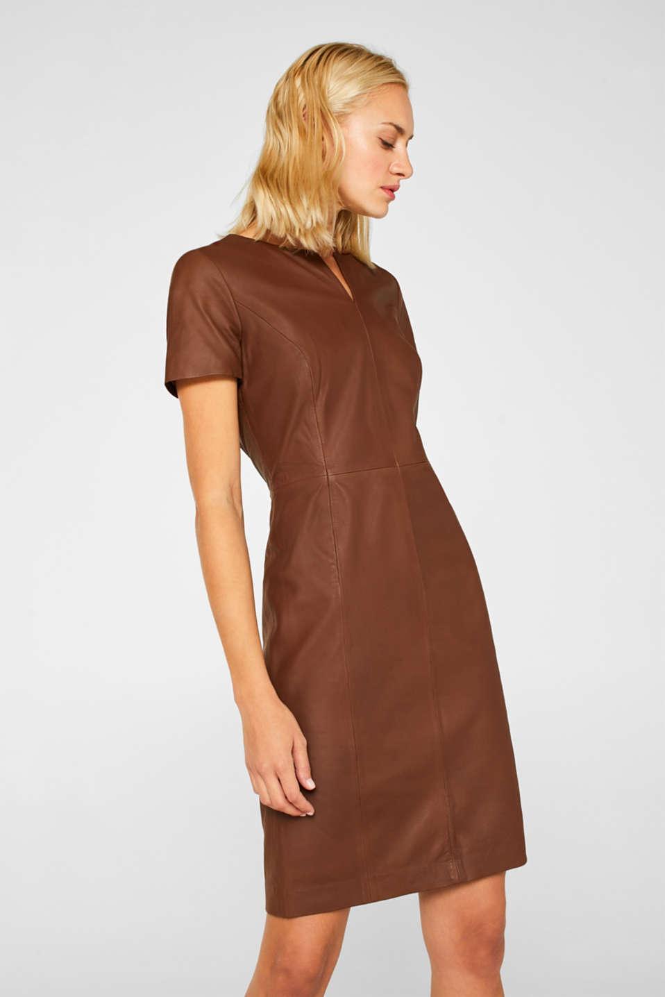 Dresses leather, CARAMEL, detail image number 0