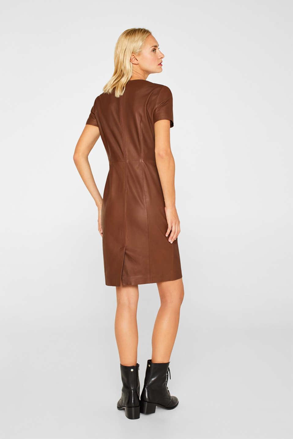 Dresses leather, CARAMEL, detail image number 2