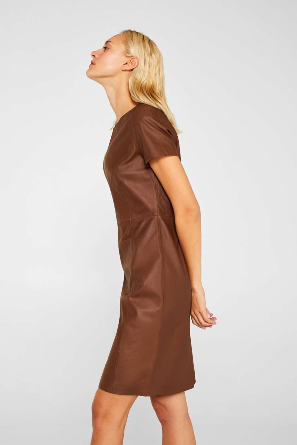 Dresses leather, CARAMEL, detail image number 5