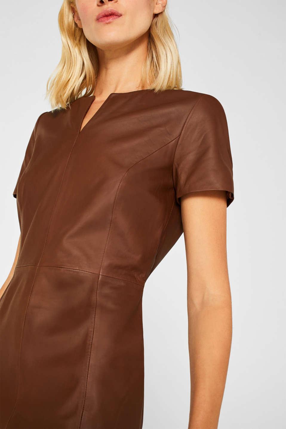 Dresses leather, CARAMEL, detail image number 3