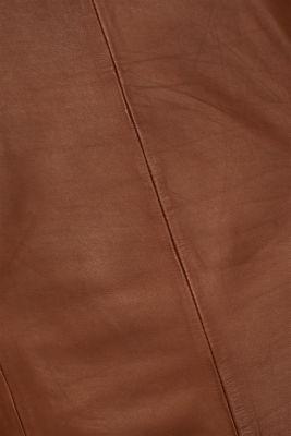 Made of lamb leather: Sheath-style dress