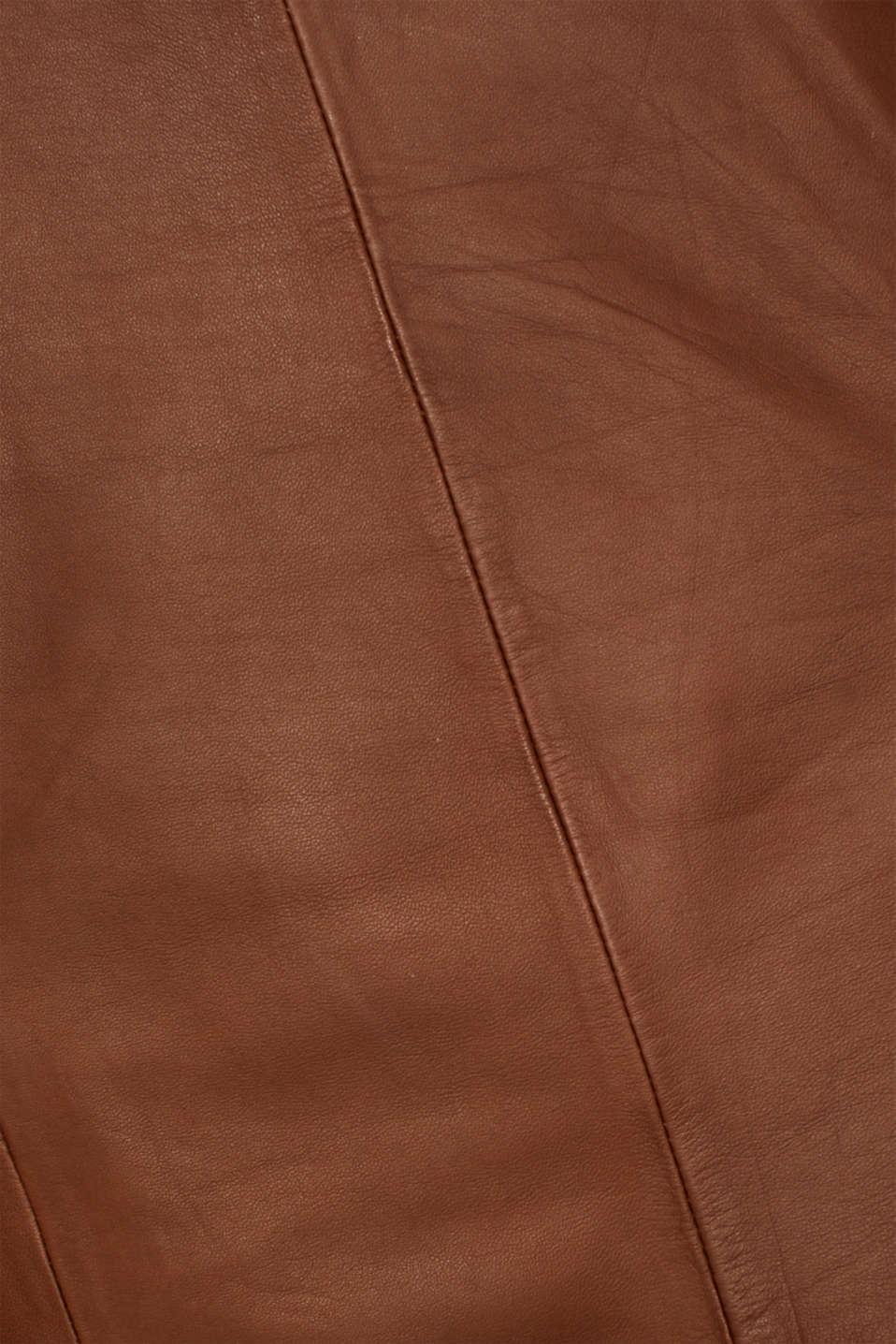 Dresses leather, CARAMEL, detail image number 4