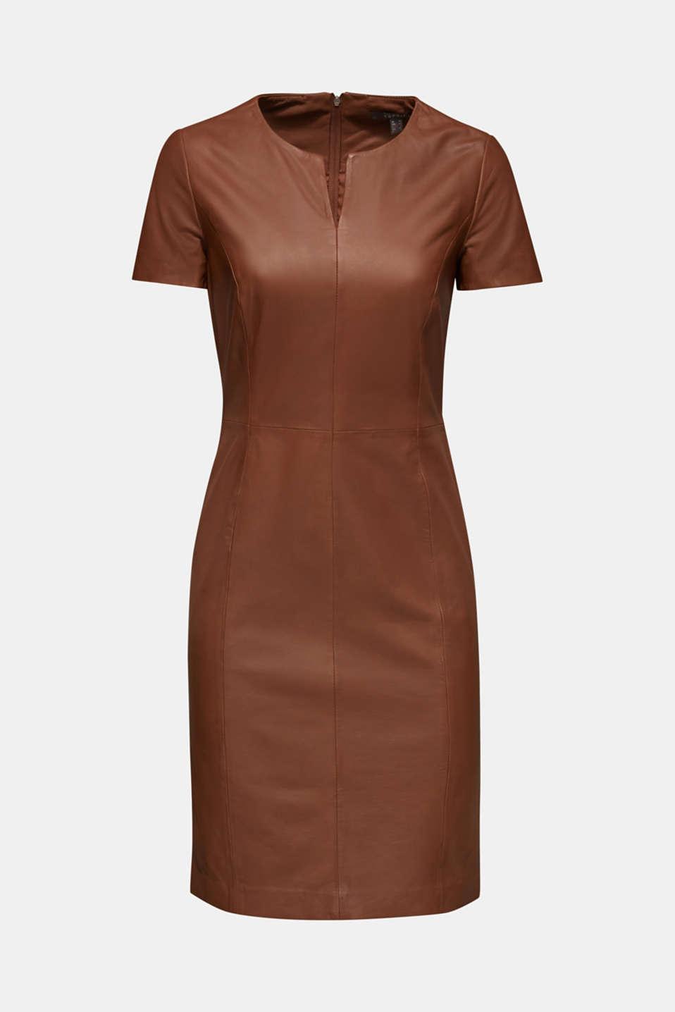 Dresses leather, CARAMEL, detail image number 6