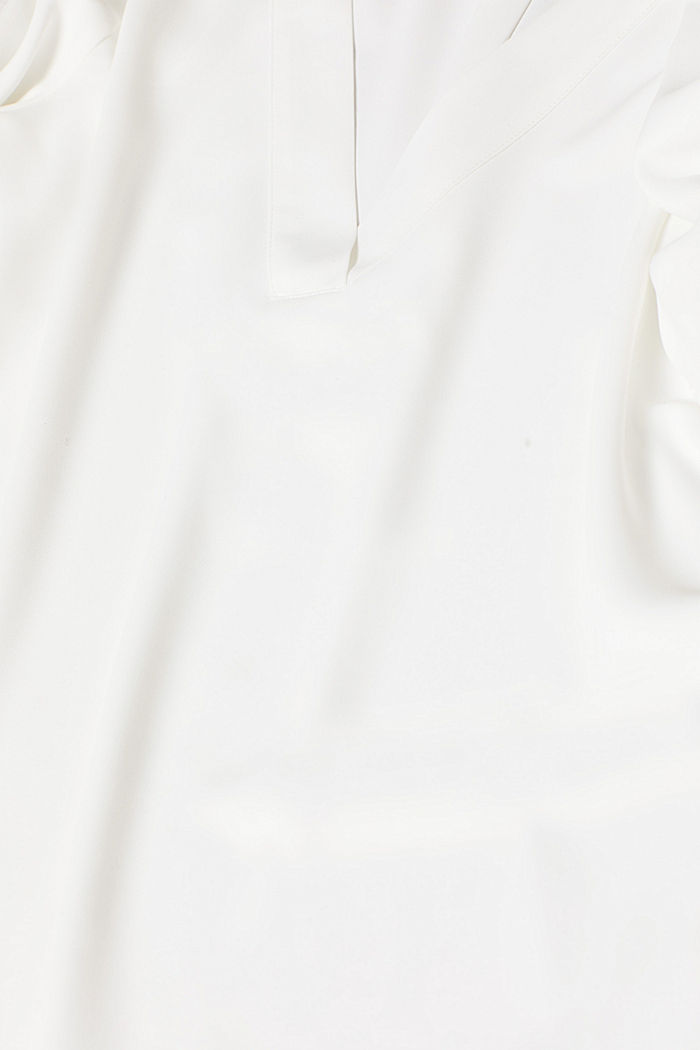 Crêpe blouse with elegant details, OFF WHITE, detail image number 4