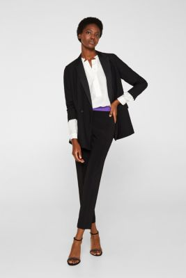 With silk: blouse with a stand-up collar, OFF WHITE, detail