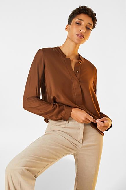 Camicia blusa donna Seventy in seta stretch lucida bianco