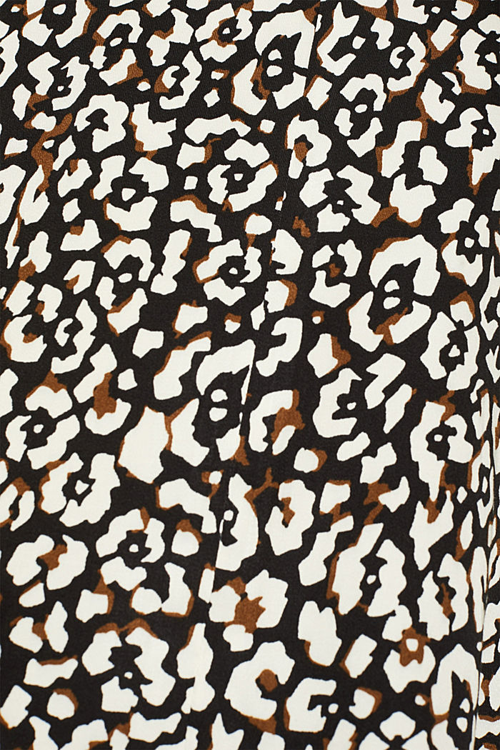 Printed pussycat bow blouse, BLACK, detail image number 4