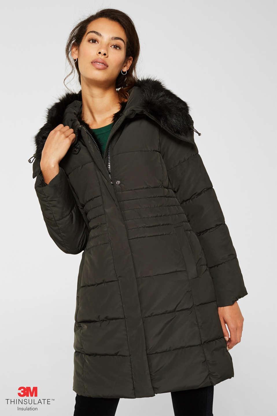 Coats woven, BOTTLE GREEN, detail image number 0