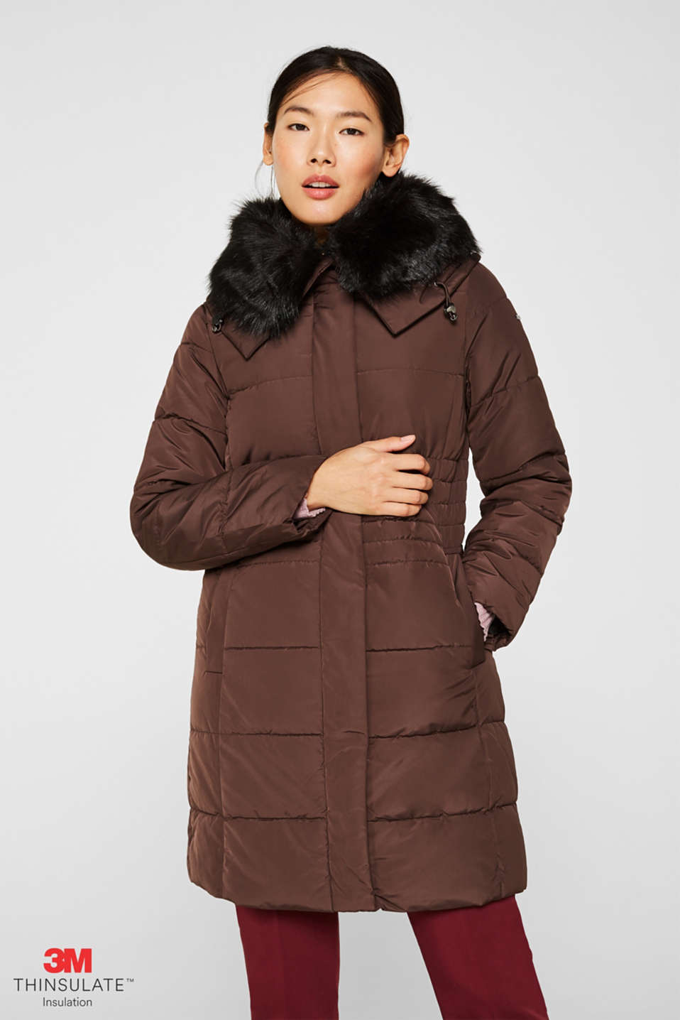Esprit - Quilted coat with 3M®Thinsulate filling