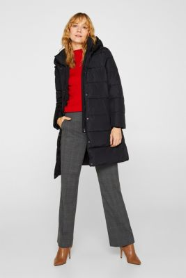 Quilted coat with 3M™ Thinsulate™ technology, BLACK, detail