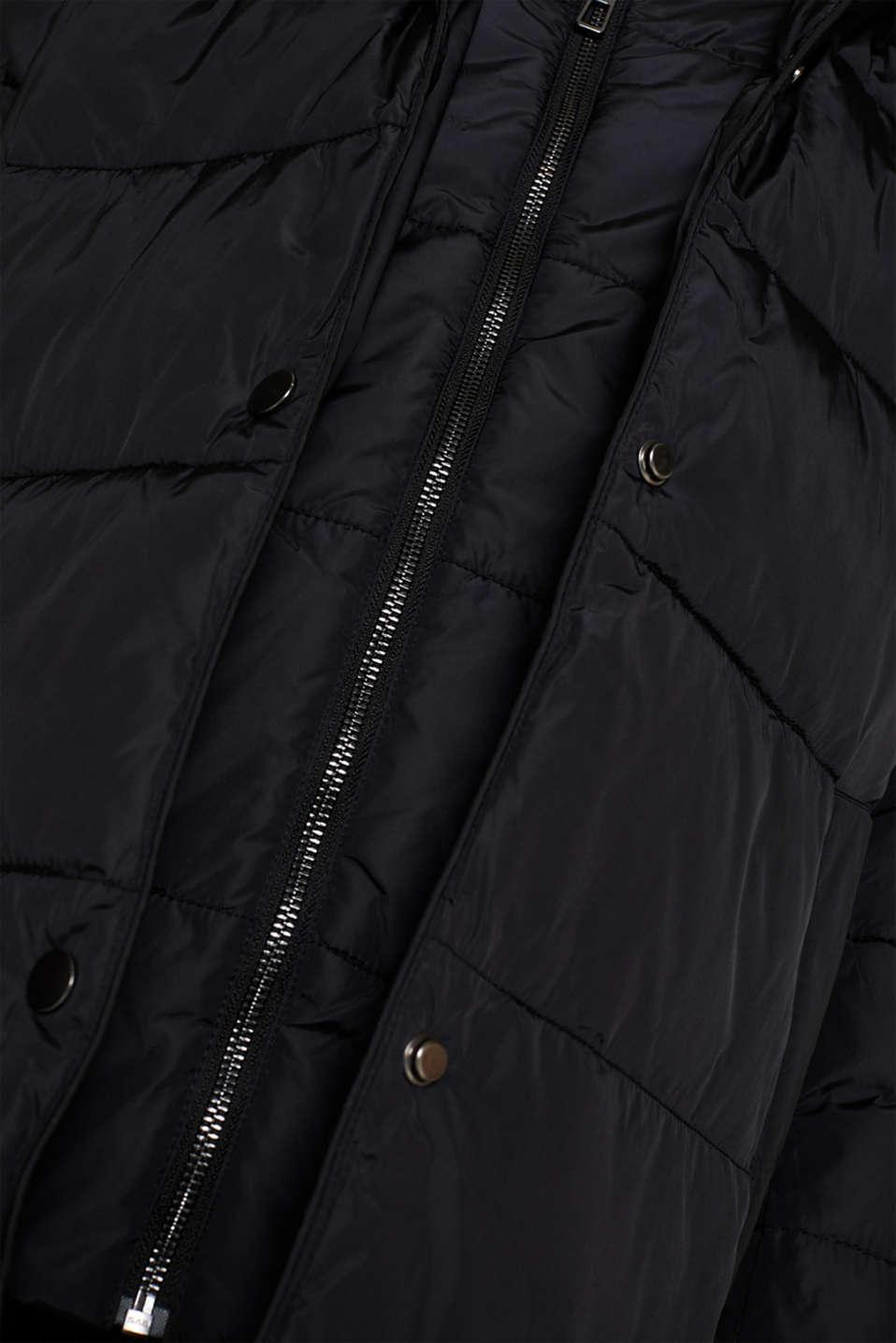 Coats woven, BLACK, detail image number 4