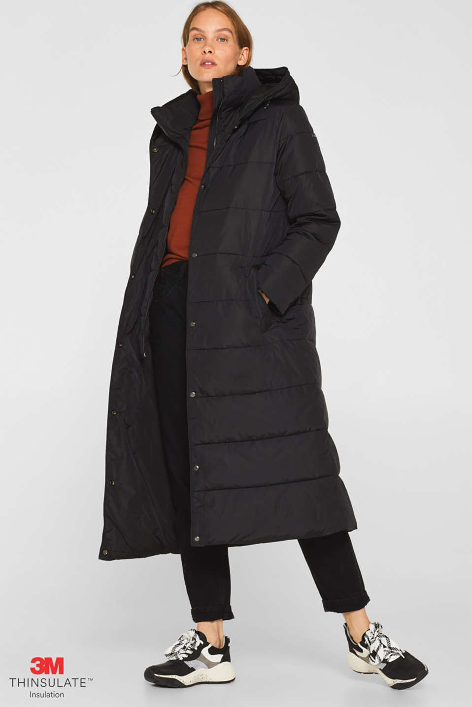 Esprit - Quilted coat with 3M®Thinsulate® technology
