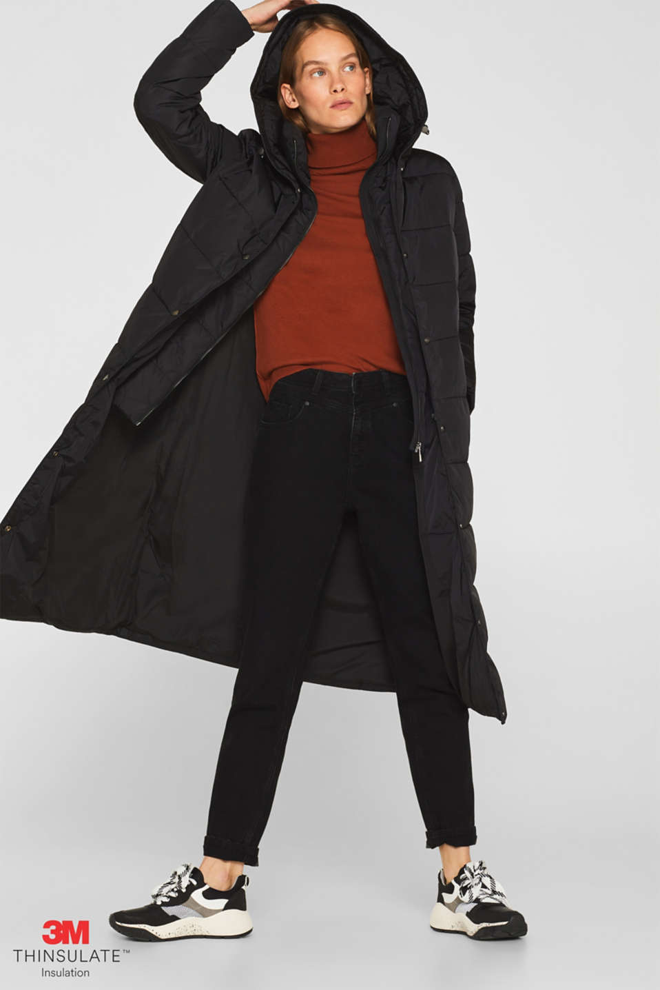 Coats woven, BLACK, detail image number 1