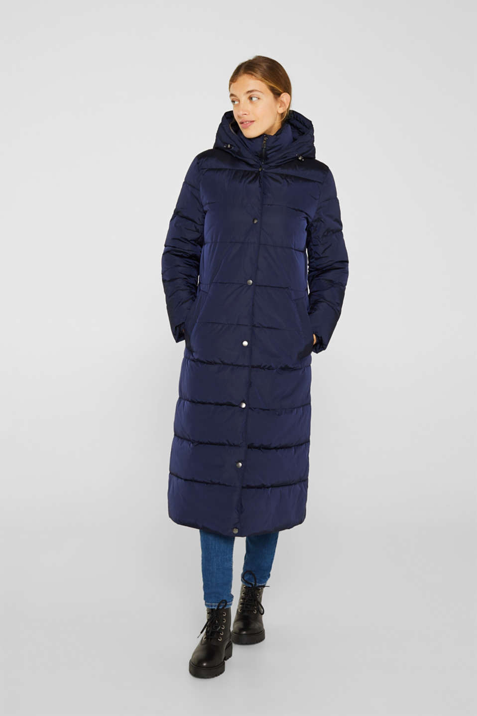 Quilted coat with 3M™ Thinsulate™ technology, NAVY, detail image number 1