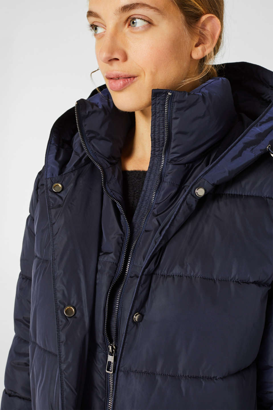 Quilted coat with 3M™ Thinsulate™ technology, NAVY, detail image number 2