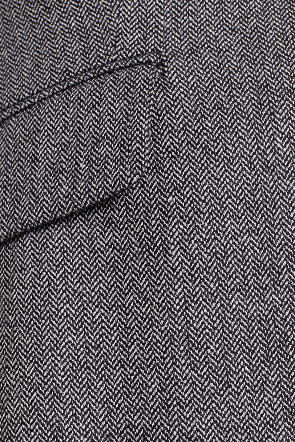 Wool blend: stretch blazer with a herringbone pattern, BLACK, detail image number 4
