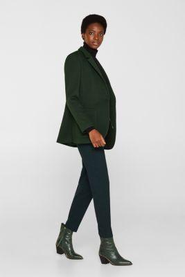 Compact sweatshirt blazer, BOTTLE GREEN, detail