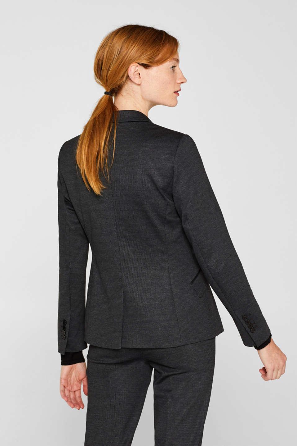 MINI CHECK mix + match stretch blazer, ANTHRACITE, detail image number 3
