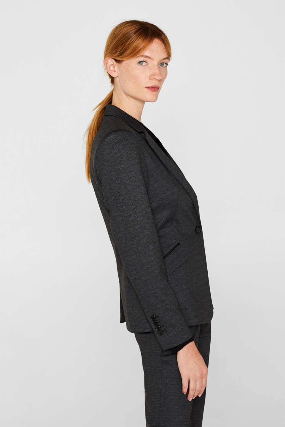 MINI CHECK mix + match stretch blazer, ANTHRACITE, detail image number 5