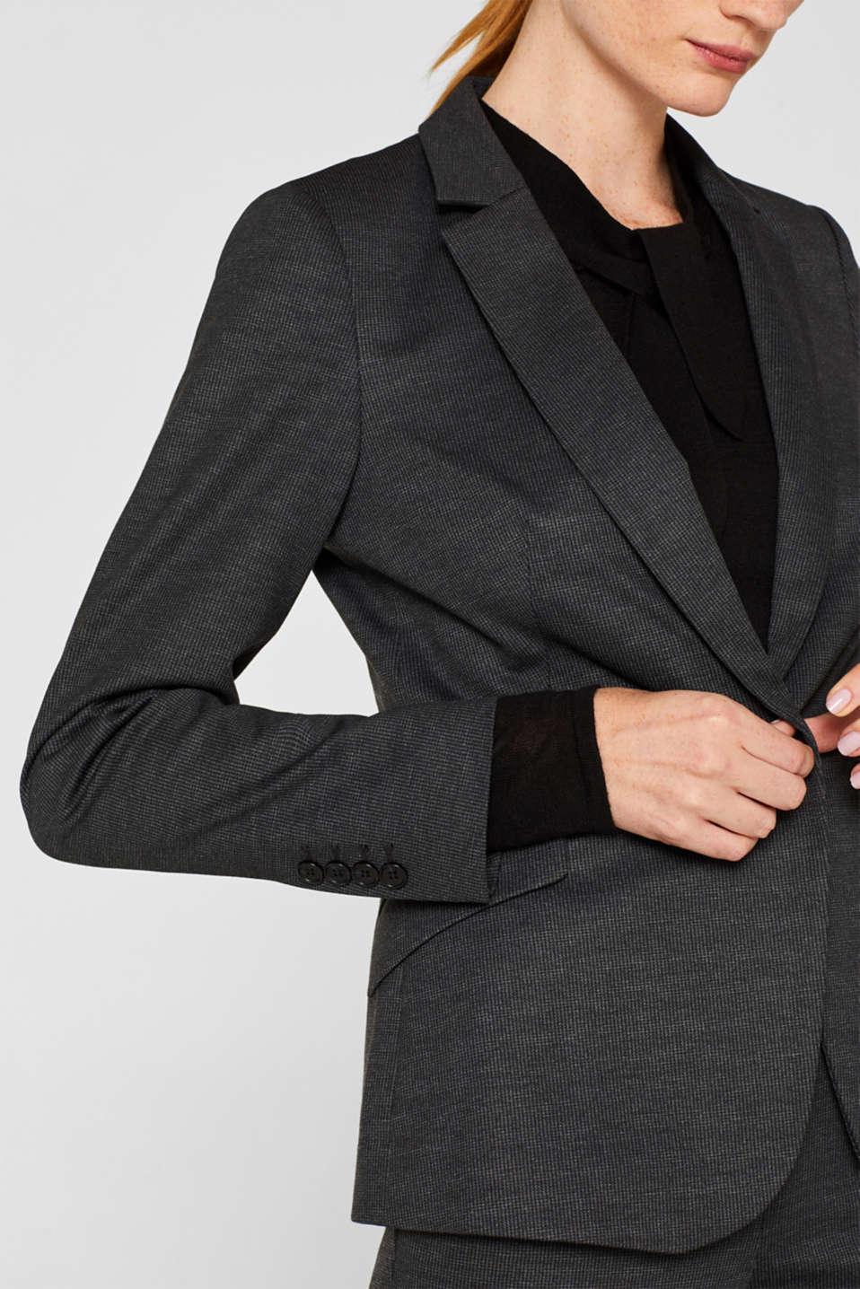 MINI CHECK mix + match stretch blazer, ANTHRACITE, detail image number 2