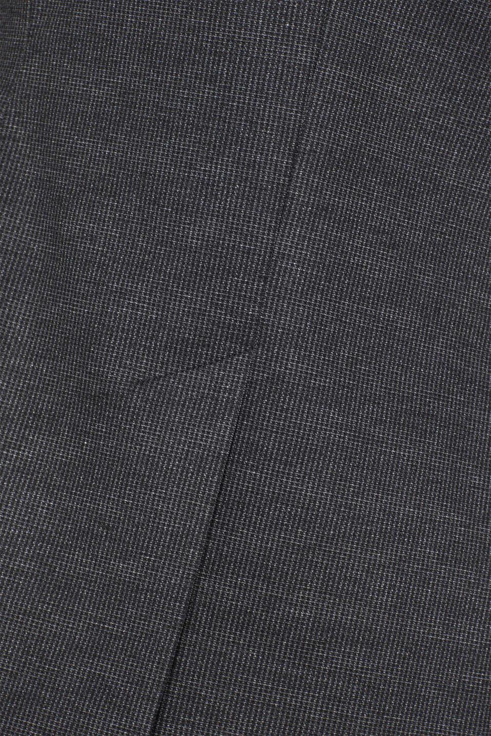 MINI CHECK mix + match stretch blazer, ANTHRACITE, detail image number 4