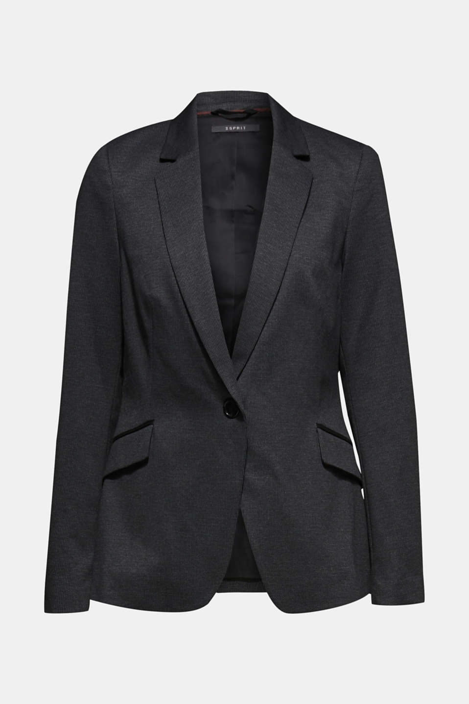MINI CHECK mix + match stretch blazer, ANTHRACITE, detail image number 6